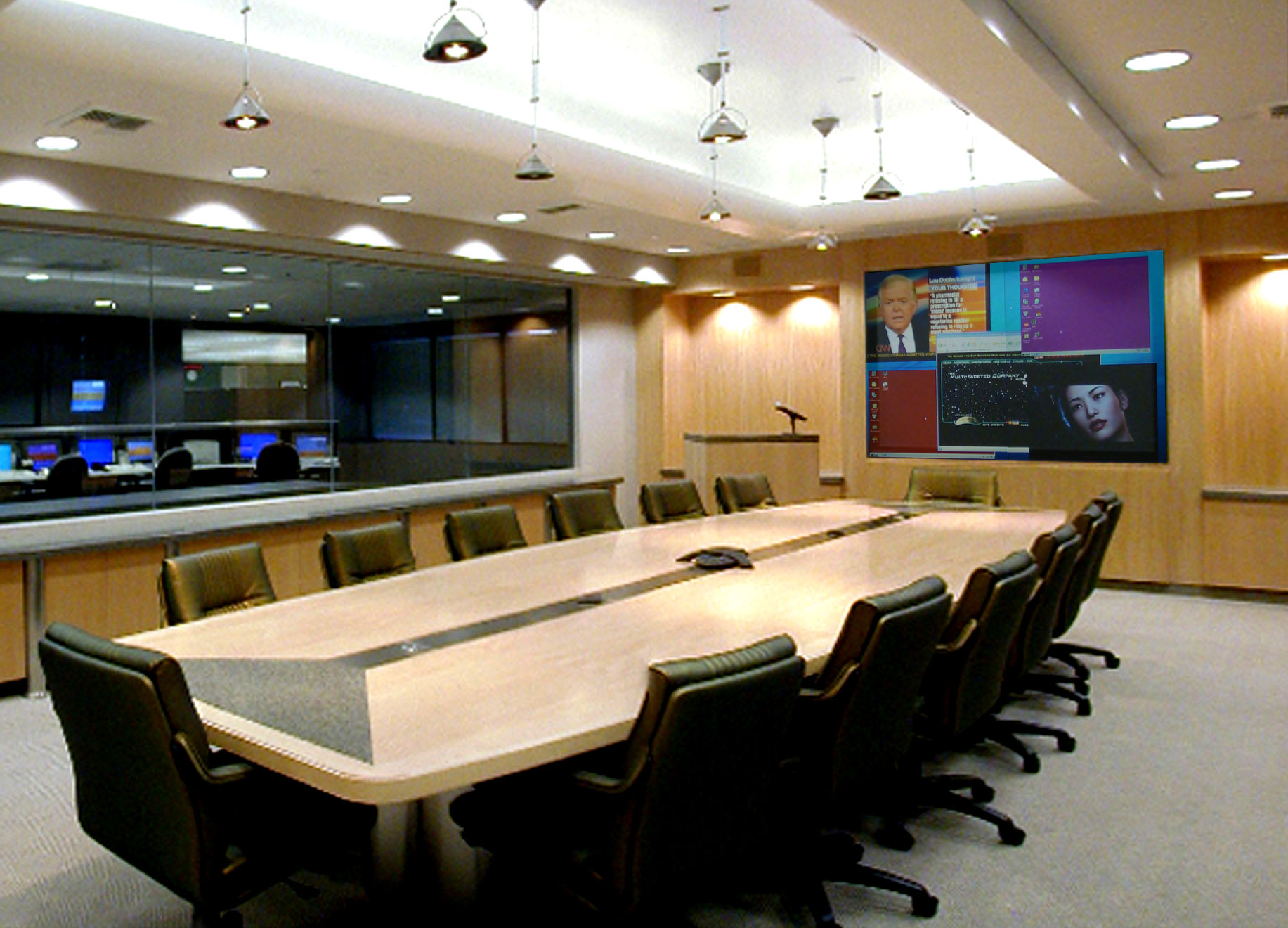 Multi-purpose Conference Room with Visionmaster DLP Video Wall
